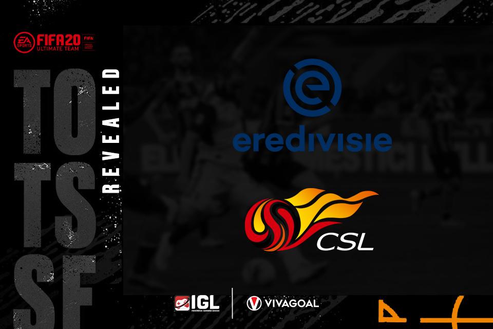 FIFA 20 Rilis TOTSSF Eredivisie dan Chinese Super League