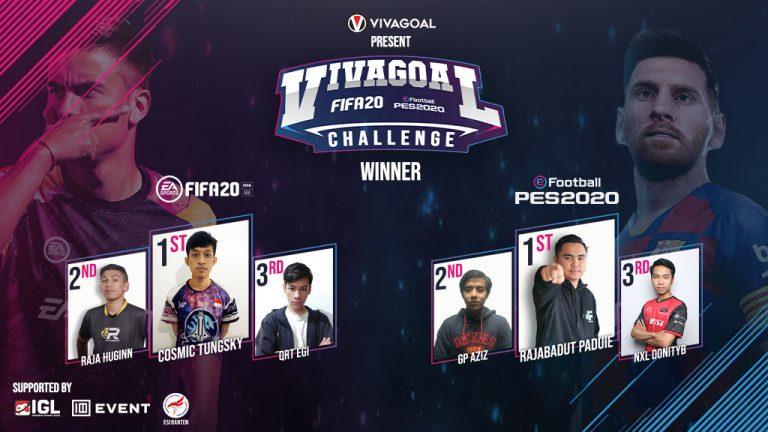 Vivagoal Challenge Sematkan 6 Pemenang dari Dua Game Sepakbola Terpopuler