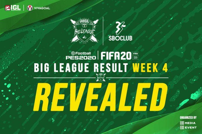 Big League eFootball PES Minggu Keempat: Mayoritas Player Saling Berbagi Poin