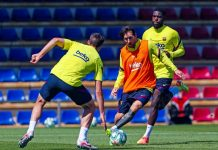 Lionel Messi Barcelona Training