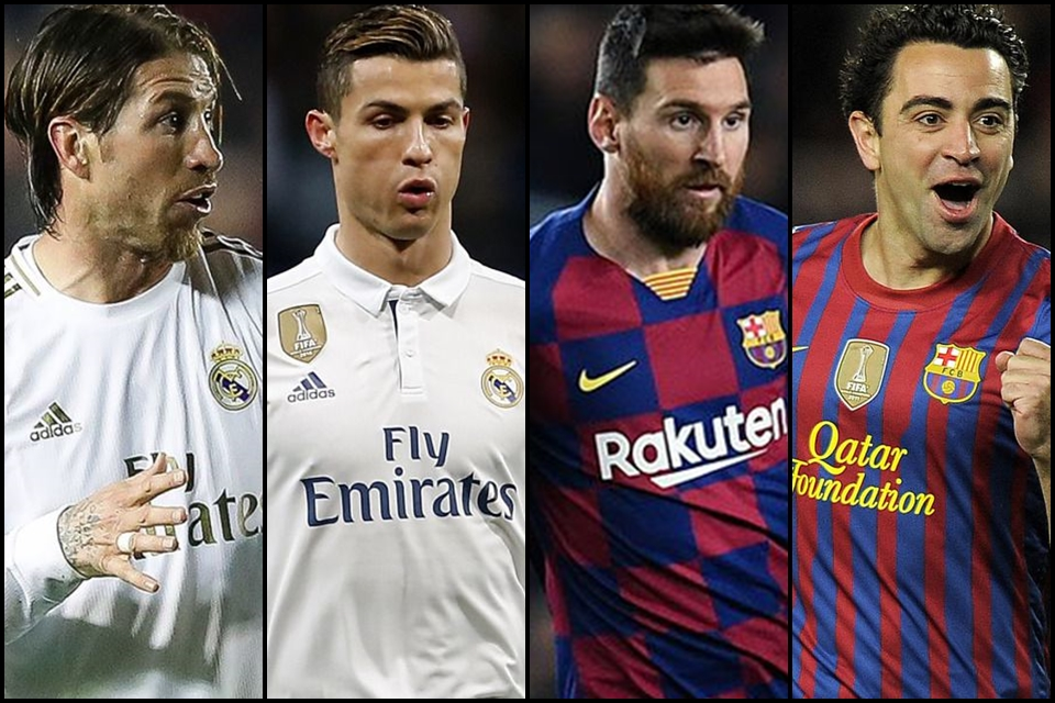Xavi Hernandez, Lionel Messi, Sergio Ramos dan Cristiano Ronaldo