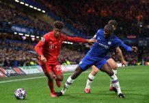Kingsley Coman saat bermain melawan Chelsea di ajang Liga Champions