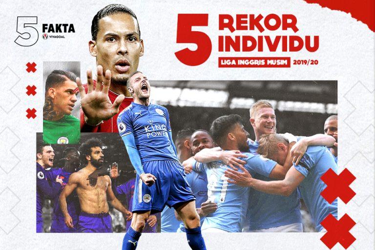 5 Rekor Individu di Liga Inggris 2019/20