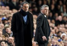 Carlo Ancelotti dan Jose Mourinho