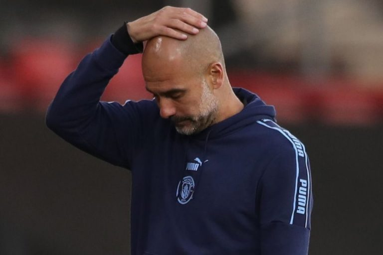 City Kalah, Guardiola Catat Rekor Terburuk