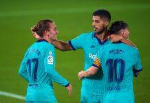 Lionel Messi, Luis Suarez dan Antoine Griezmann