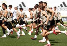 Luka Modric sedang megikuti latihan bersama skuad Real Madrid