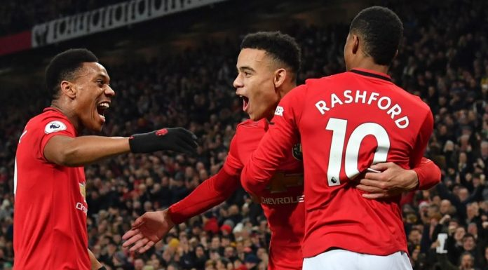 Marcus Rashford, Anthony Martial dan Mason Greenwood