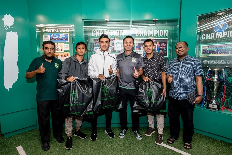 Marselino Ferdinand, Mochamad Aditya, Ruy Arianto dan Wahyu Persebaya U-16