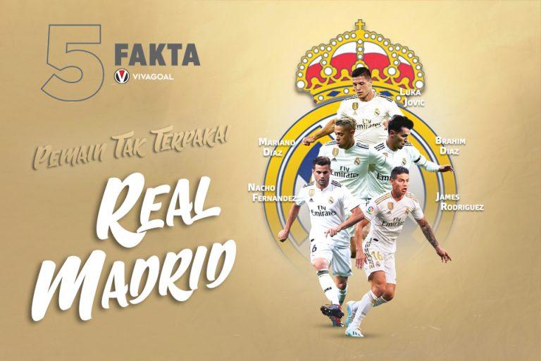 5 Fakta Pemain Tak Terpakai Real Madrid