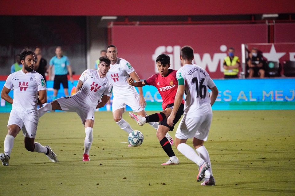 Takefusa Kubo saat memperkuat Real Mallorca