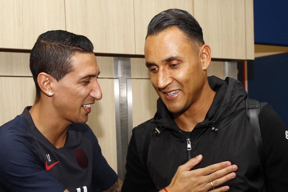 Angel Di Maria (kiri) dan Keylor Navas (kanan) saat berseragam PSG