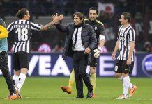 Conte Selebrasi Bersama Pemain Juventus