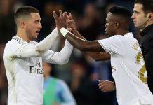 Eden Hazard dan Vinicius Junior