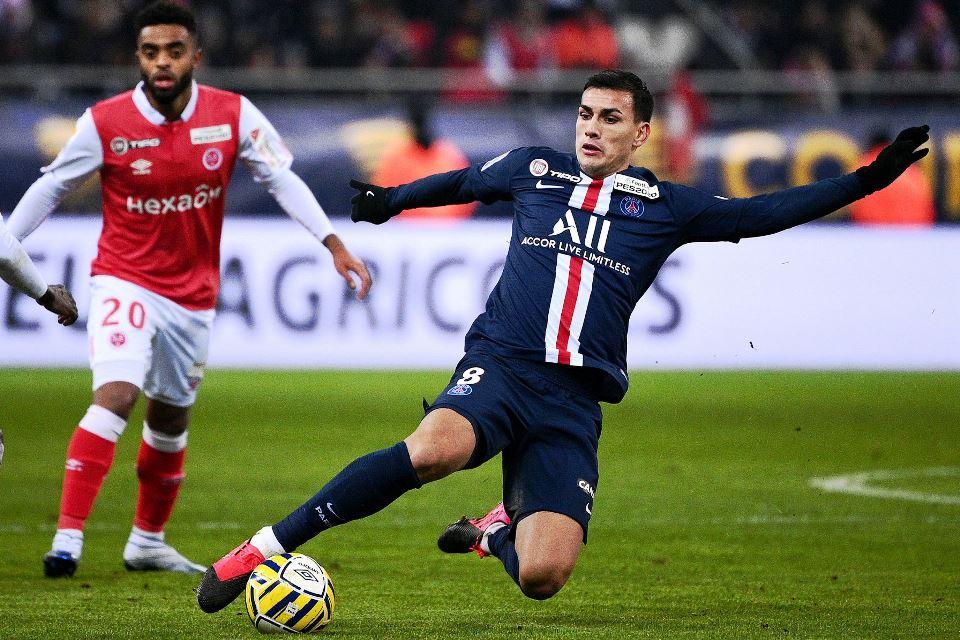 Leandro Paredes saat melawan Stade de Reims Coupe de Ligue