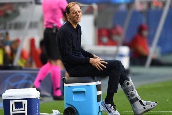 Thomas Tuchel, pelatih PSG yang tetap mendukung anak asuhnya meski mengalami cedra