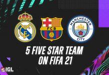 Jajaran Tim Overpower di FIFA 21