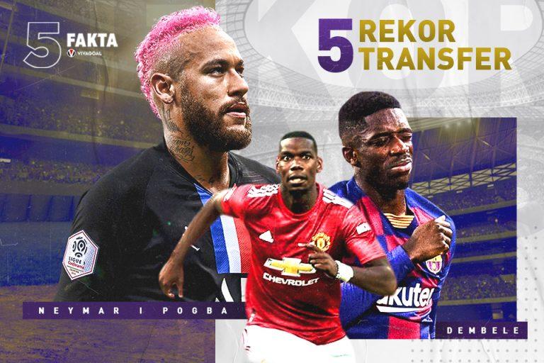 5 Rekor Transfer di Sepak Bola Modern