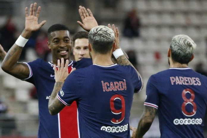 Brace Icardi Bawa PSG Menang 2-0 Atas Reims