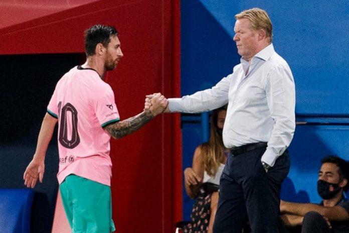 Lionel Messi dan Ronald Koeman