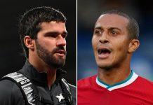 Jelang Lawan Arsenal, Liverpool Terancam Tak Akan Diperkuat Thiago dan Alisson