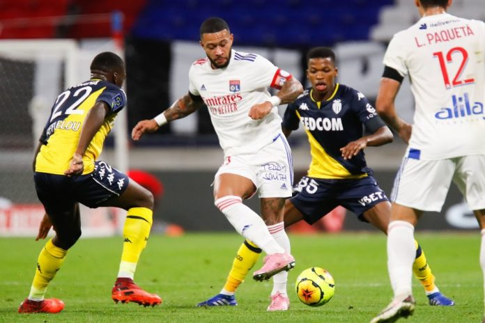 Bermain 10 Orang, Lyon Tetap Mampu Menang Besar 4-1 Atas AS Monaco