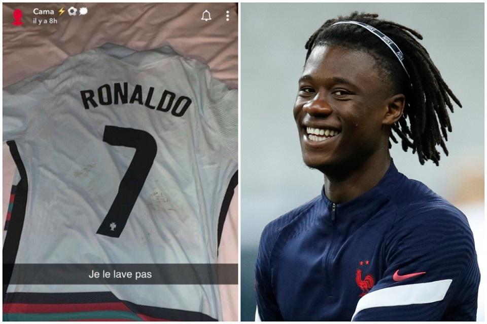 Dapat Jersey Cristiano Ronaldo, Camavinga: Saya Tak Mau Cuci
