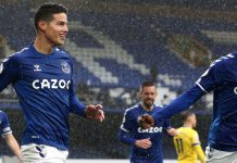 James Rodriguez On Fire, Everton Pun Melaju Kencang
