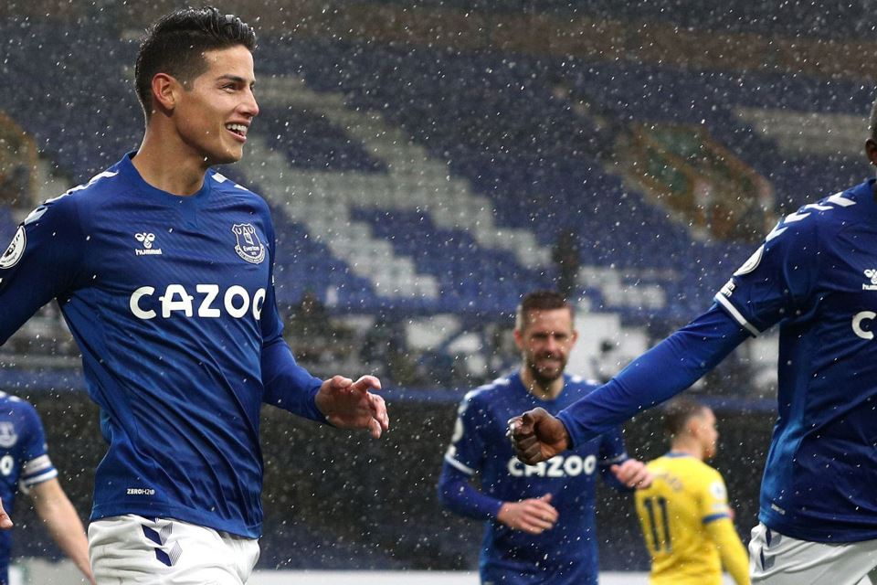 James Rodriguez On Fire, Everton Pun Melaju Kencang
