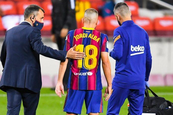 Jordi Alba Cedera Hamstring, Absen Bela Barcelona Selama Sebulan