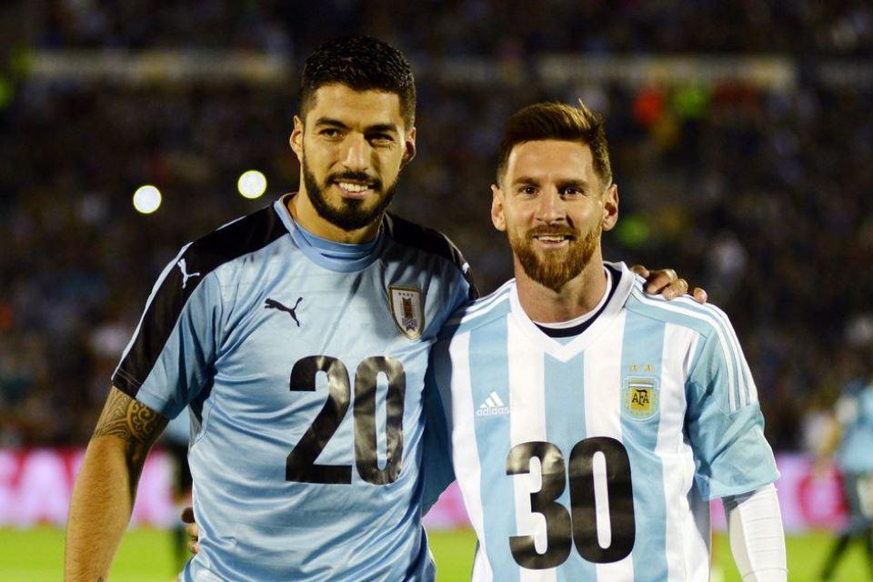 Messi Suarez Timnas