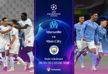 Prediksi Marseille vs Man City: The Citizens Krisis Pemain Depan