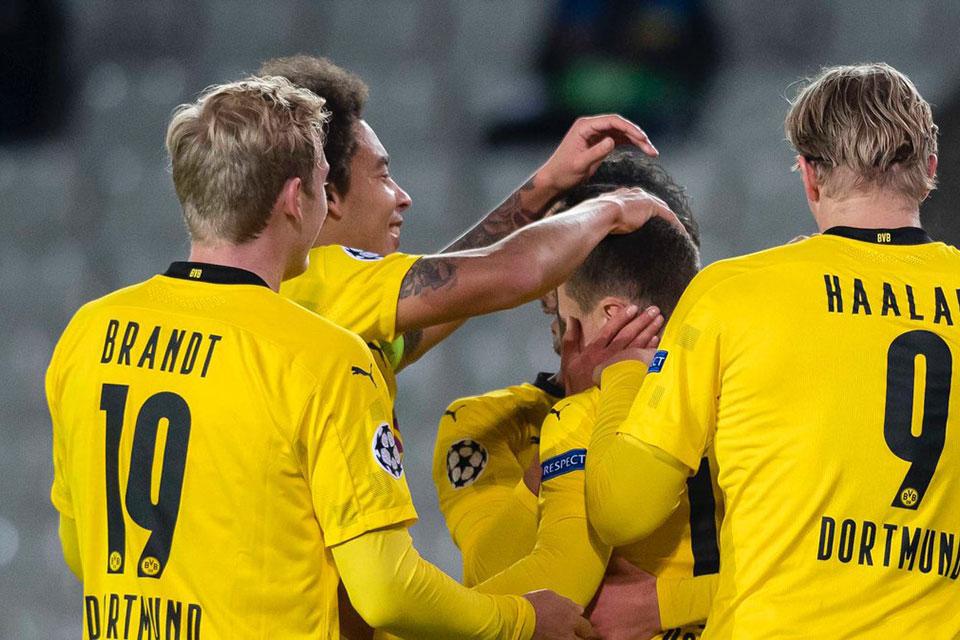 Atasi Club Brugge 3-0, Dortmund Puncaki Grup F Liga Champions