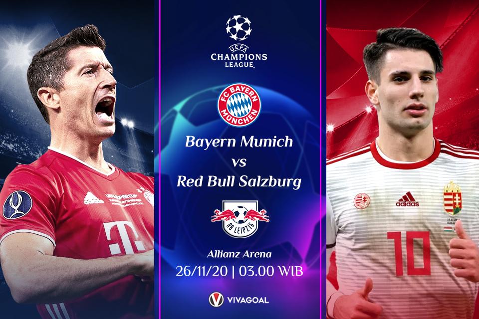 Bayern vs Salzburg: Prediksi, Line Up dan Live Streaming