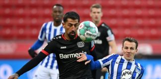 Bosz Frustrasi, Laga Leverkusen Hertha berakhir 0-0