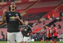 Cetak Brace, Cavani Bawa United Menang 3-2 Atas Tuan Rumah Southampton