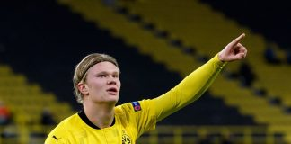 Dua Gol Haaland Mengantar Dortmund ke 16 Besar