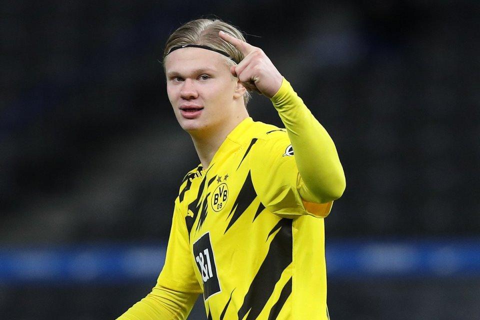 Haaland Cetak Quattrick, Dortmund Libas Hertha Berlin 5-2