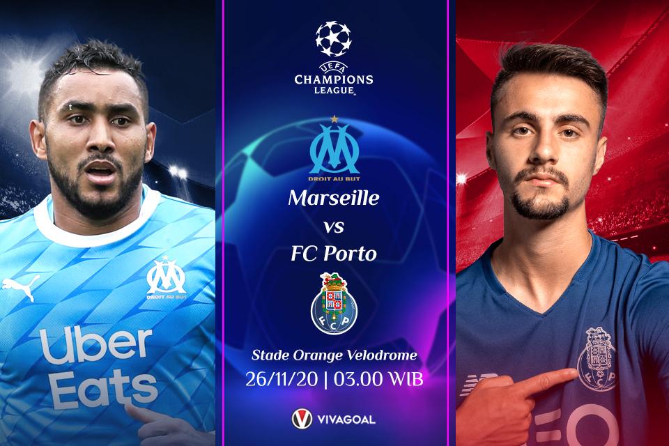 Marseille Vs Porto: Prediksi, Line Up dan Live Streaming