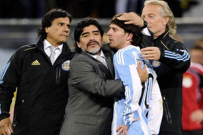 Messi Diego Maradona, Dia Abadi