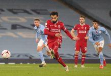 Mohamed Salah sukses menjadi Algojo penalti saat melawan Manchester City