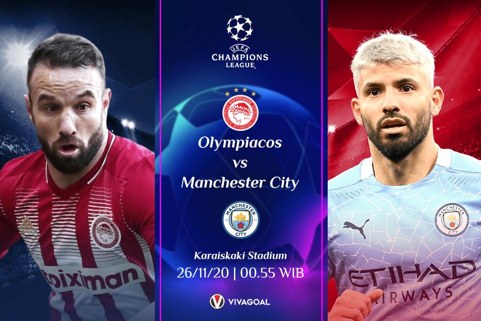 Olympiakos Vs Man City: Prediksi, Line Up dan Live Streaming