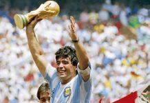 Sebelum Wafat, Maradona Sempat Unggah Foto Dirinya Lawan Timnas Indonesia