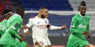 Sempat Tertinggal, Lyon Berbalik Menang 2-1 Atas Saint-Etienne