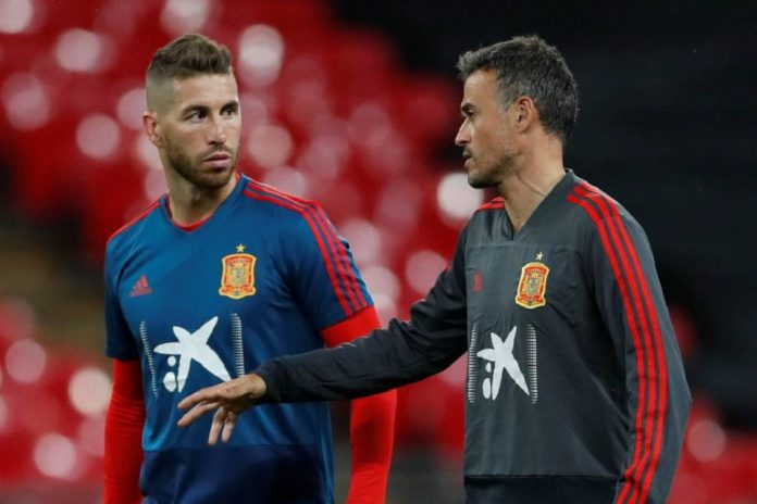 Sergio Ramos dan Luis Enrique