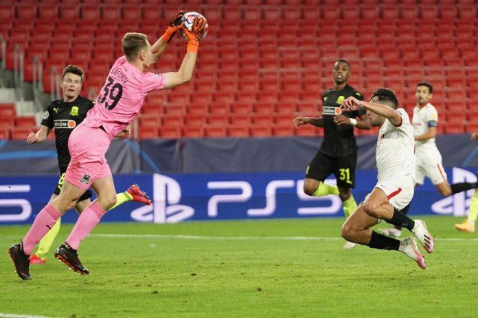 Sevilla vs Krasnodar dalam kompetisi Liga Champions match day ketiga