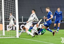 Cristiano Ronaldo Juventus usai mencetak gol