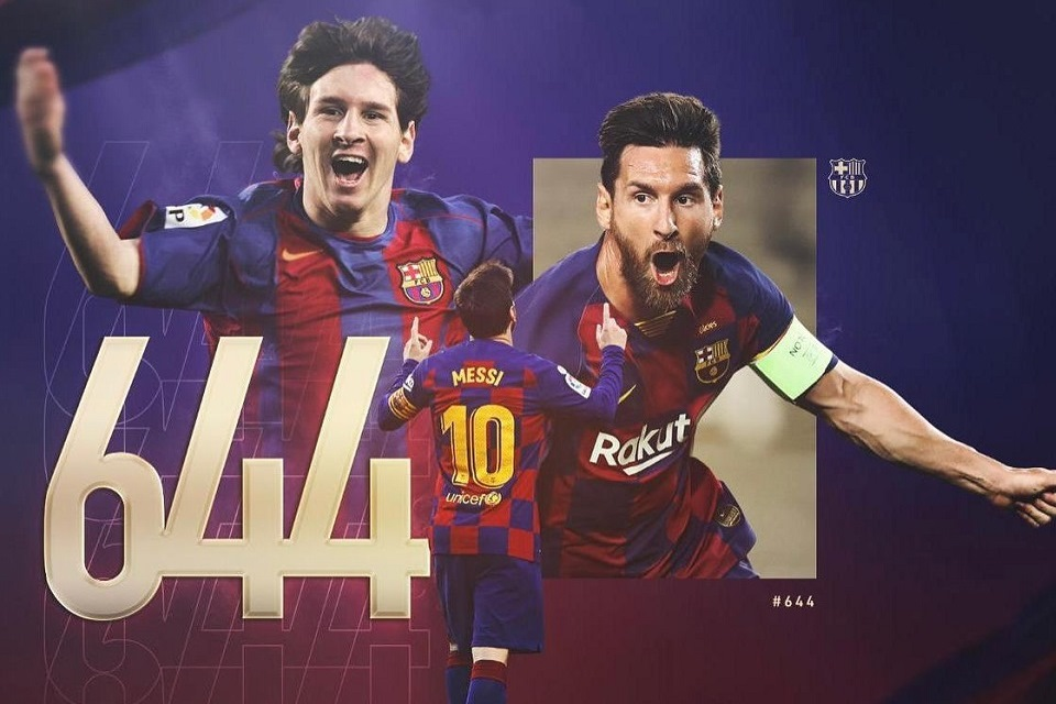 Lewati Rekor Pele, Messi: Terima Kasih Teman-Teman