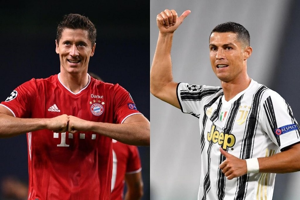 Soal Torehan Gol Sepanjang 2020, Ronaldo Kalahkan Lewandowski