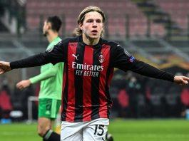 Jens Peter Hauge, pemain muda AC Milan